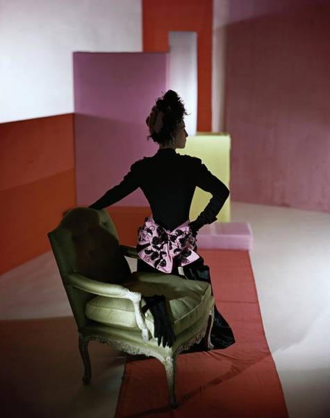 Photograph - A Model Wearing A Schiaparelli Dress by Horst P. Horst