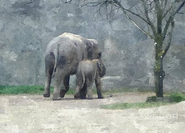 Sara Painting - A Mothers Love by Sara  Raber