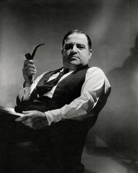 Male Portrait Photograph - A Portrait Of Fiorello La Guardia by Lusha Nelson