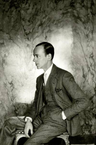 Male Portrait Photograph - A Portrait Of Fred Astaire Sitting by Cecil Beaton
