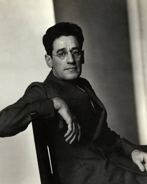 Male Photograph - A Portrait Of George S. Kaufman by Edward Steichen