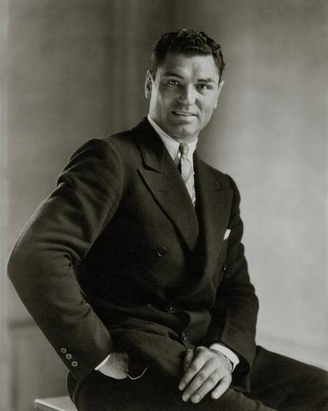Male Portrait Photograph - A Portrait Of Jack Dempsey by Edward Steichen