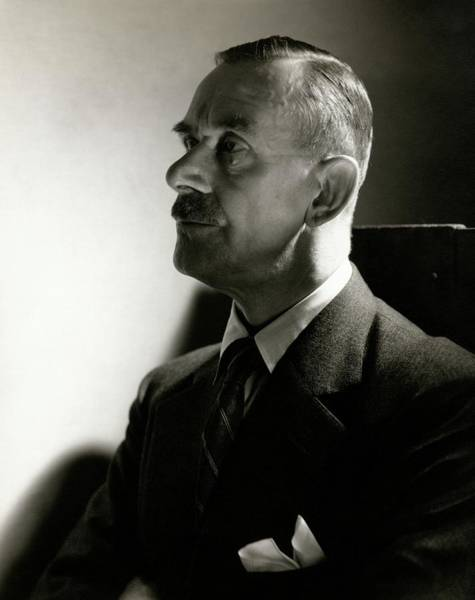 Male Portrait Photograph - A Portrait Of Thomas Mann by Edward Steichen