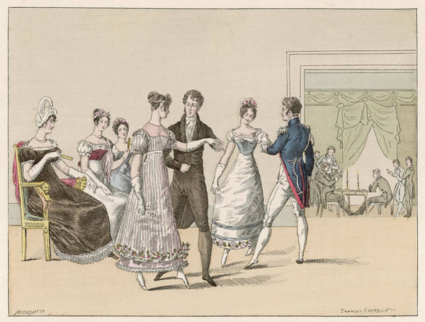 Wall Art - Drawing - A Private Dance In The Chausee by Mary Evans Picture Library