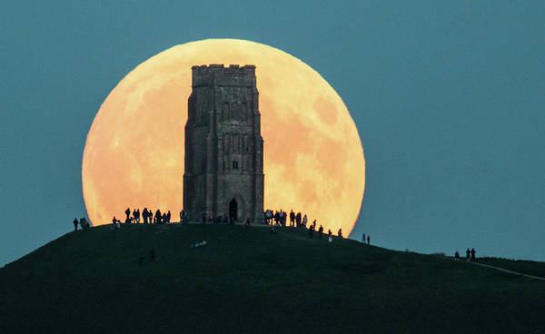 Offbeat Photograph - A Total Lunar Eclipse Spawns Blood by Matt Cardy