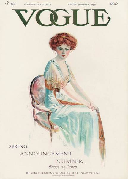 Furniture Photograph - A Vintage Vogue Magazine Cover Of A Woman by Jean Parke