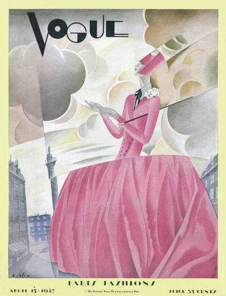 Photograph - A Vintage Vogue Magazine Cover Of A Woman by William Bolin