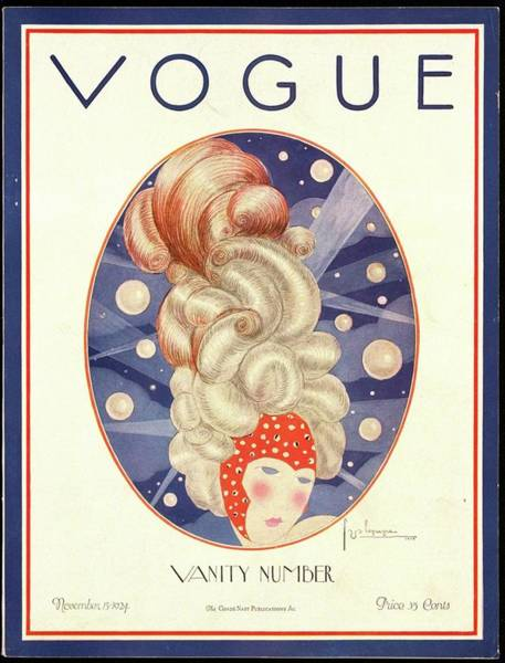 Photograph - A Vogue Magazine Cover From 1924 by Georges Lepape