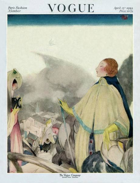 Wealth Photograph - A Vogue Magazine Cover Of A Woman by Henry R. Sutter