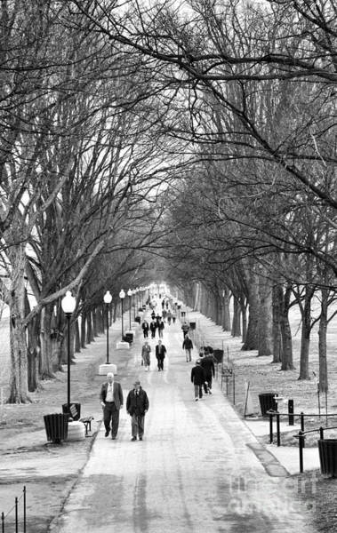 Photograph - A Walk Along The National Mall Alongside The Reflecting Pool by William Kuta