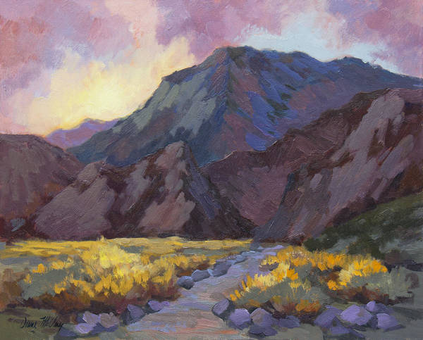 Wall Art - Painting - A Walk In La Quinta Cove by Diane McClary