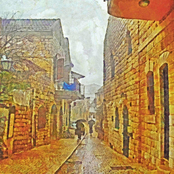 Digital Art - A Winter Morning In Haifa by Digital Photographic Arts