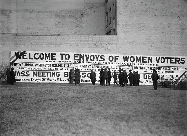 Wall Art - Photograph - A Woman Suffrage Sign, Circa 1915 by Stocktrek Images