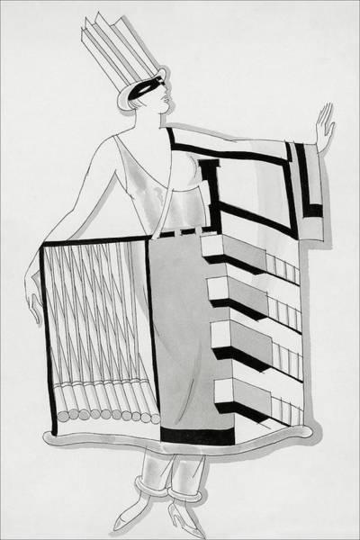 Costume Digital Art - A Woman Wearing A Costume by Robert E. Locher