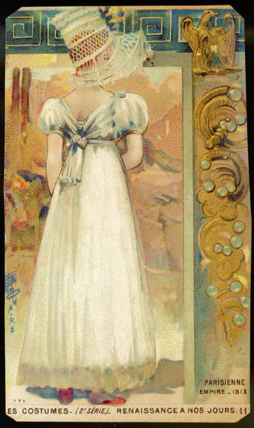 Wall Art - Drawing - A Young Parisian Lady Wearing  A White by Mary Evans Picture Library