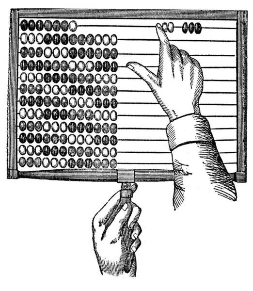 Calculation Painting - Abacus, 19th Century by Granger