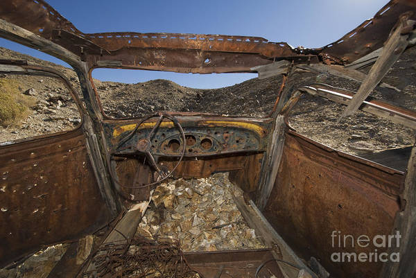 Photograph - Abandoned Car At Skidoo by Dan Suzio