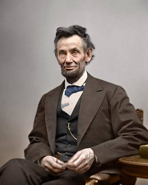 Lincoln Photograph - Abe Lincoln President by Retro Images Archive