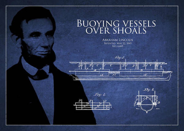 Lincoln Digital Art - Abraham Lincoln Patent From 1849 by Aged Pixel
