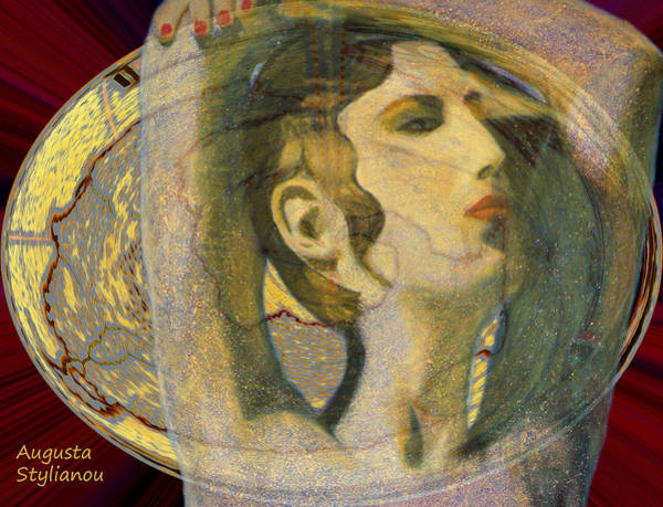 Digital Art - Abstract Cyprus Map And Aphrodite by Augusta Stylianou