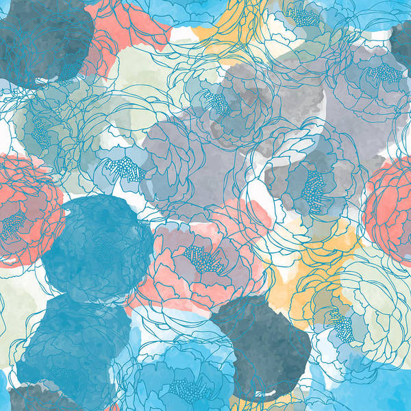 Digital Art - Abstract Painting Universal Freehand by Irinabogomolova