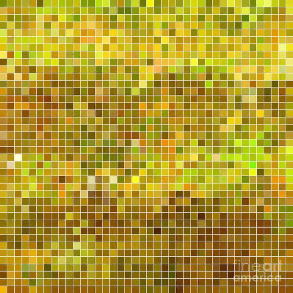 Wall Art - Digital Art - Abstract Vector Square Pixel Mosaic by Green Flame