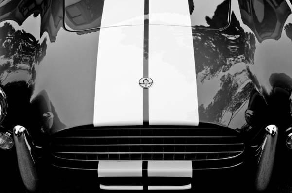 Ac Cobra Wall Art - Photograph - Ac Shelby Cobra Grille - Hood Emblem by Jill Reger