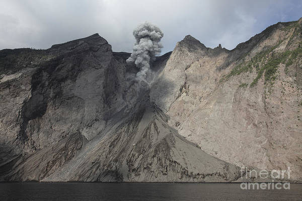 Photograph - Active Crater And Debris Slope by Richard Roscoe