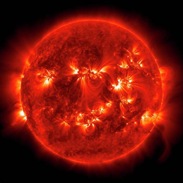 Wall Art - Photograph - Active Sun by Nasa/sdo/science Photo Library