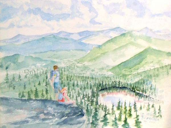 Adirondack Mountains Painting - Adirondack Mountain Hike by Craig Calabrese
