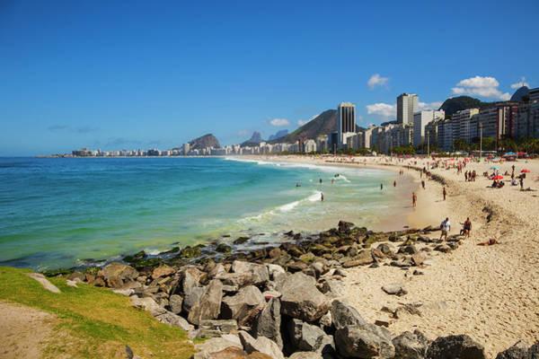 Beach Holiday Photograph - Aereal View Of Copacabana Beach In Rio by Gonzalo Azumendi