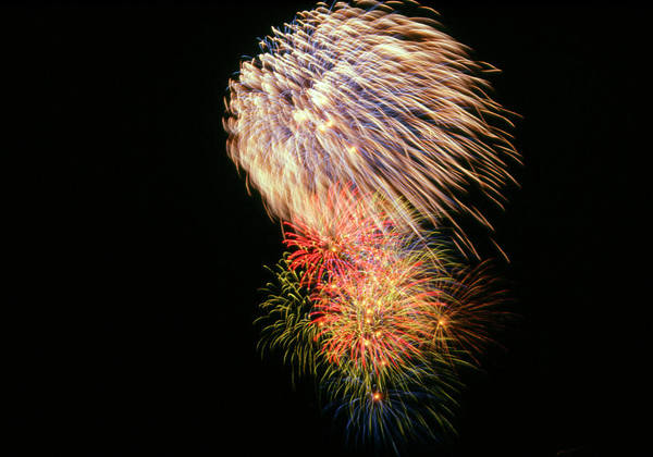 Wall Art - Photograph - Aerial Fireworks Display by Mehau Kulyk/science Photo Library