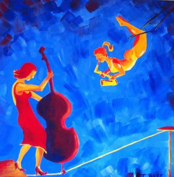 Trapeze Painting - Aerial Jazz by Tatiana Baze