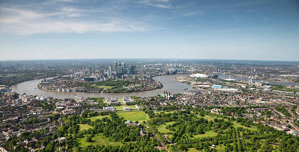 Public Land Photograph - Aerial Shot Of London by Michael Dunning