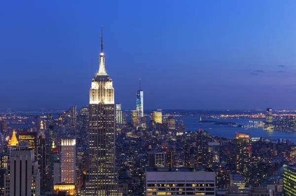 Aerial View Of Empire State And Midtown Art Print by Future Light