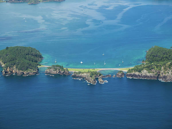 Wall Art - Photograph - Aerial View Of Islands In The Sea by Panoramic Images