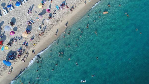 Aerial View Of Summer Sea Beach Art Print by Jasmin Merdan