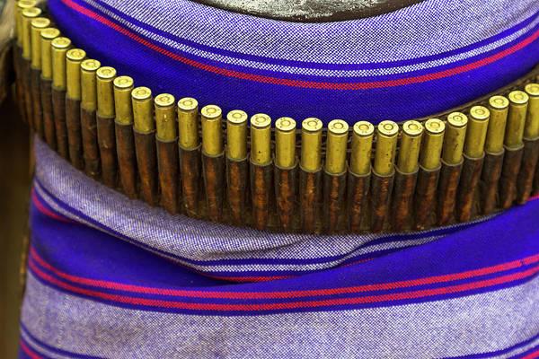 Ammunition Photograph - Africa, Ethiopia, Southern Omo, Karo by Ellen Goff