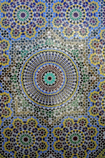 Ceramics Wall Art - Photograph - Africa, Morocco, Fes by Kymri Wilt