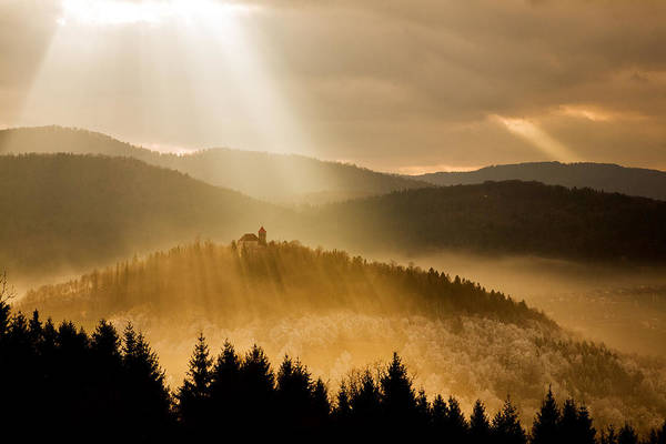 Wall Art - Photograph - Afternoon Rays Over Church by Ian Middleton