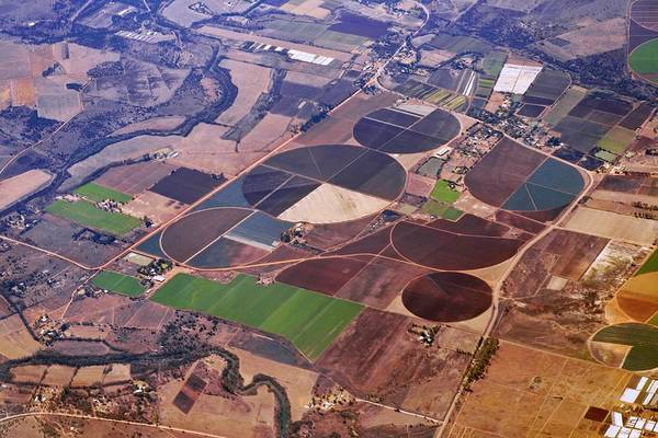 Developing Country Photograph - Agricultural Fields From The Air by Dr Andre Van Rooyen/science Photo Library