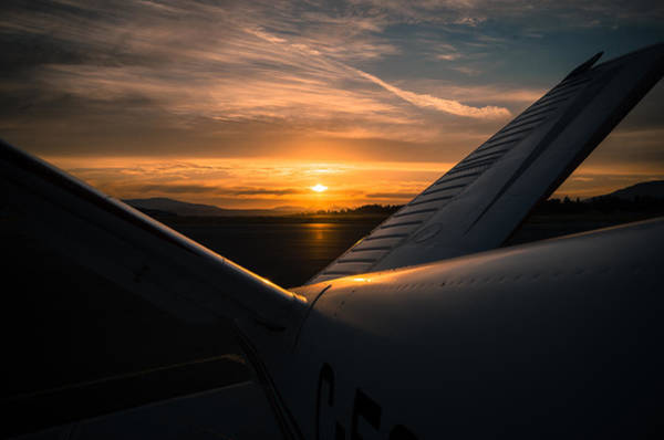 Photograph - Airport Sunset by Marilyn Wilson