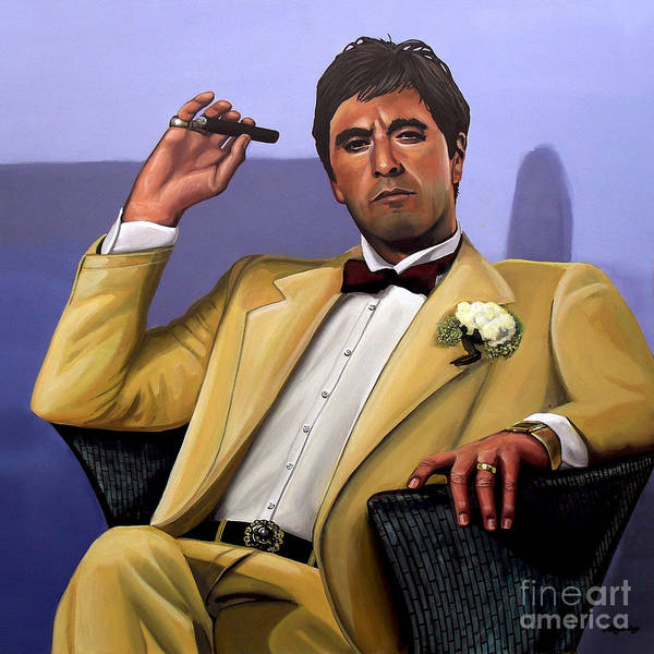 Wall Art - Painting - Al Pacino by Paul Meijering