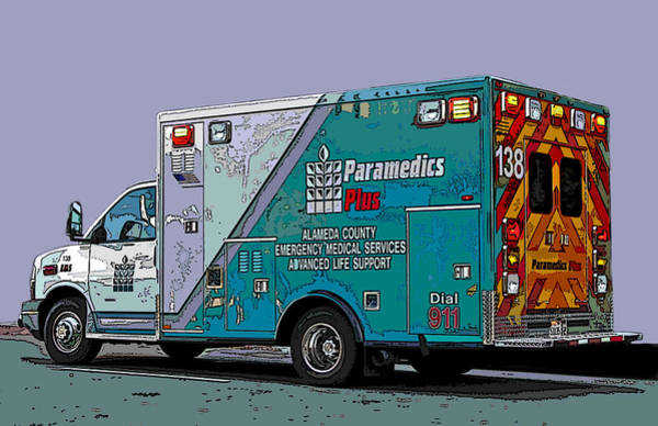 Alameda County Medical Support Vehicle Art Print