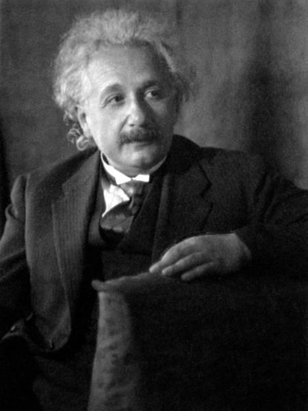 Photograph - Albert Einstein, German-american by Science Source