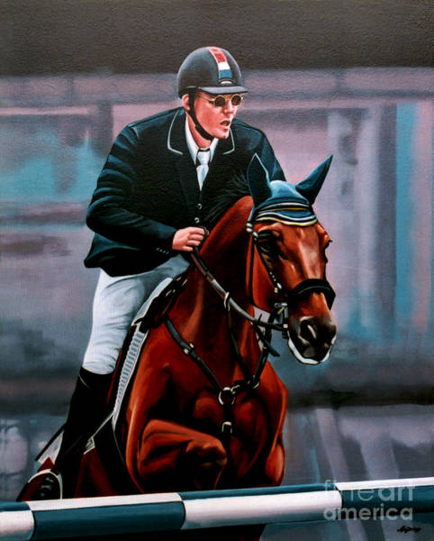 Albert Wall Art - Painting - Albert Zoer And Sam by Paul Meijering
