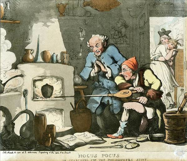 Wall Art - Photograph - Alchemist At Work by Chemical Heritage Foundation/science Photo Library