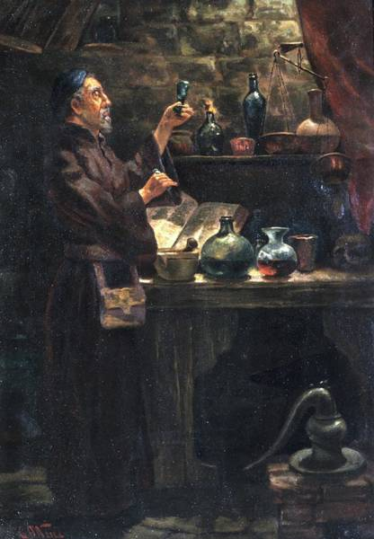 Wall Art - Photograph - Alchemist At Work by Will Brown/chemical Heritage Foundation/science Photo Library