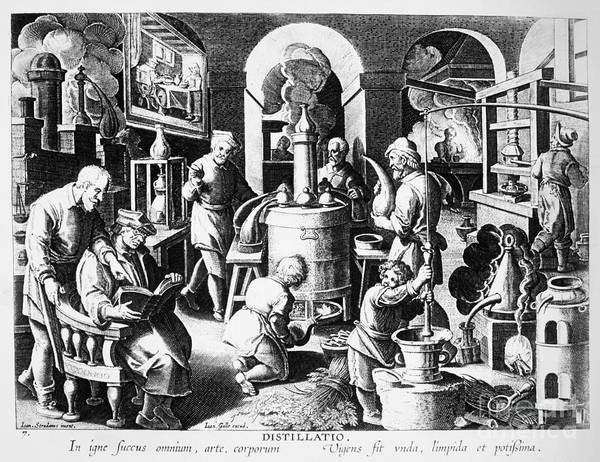 Photograph - Alchemy Laboratory. For Licensing Requests Visit Granger.com by Granger