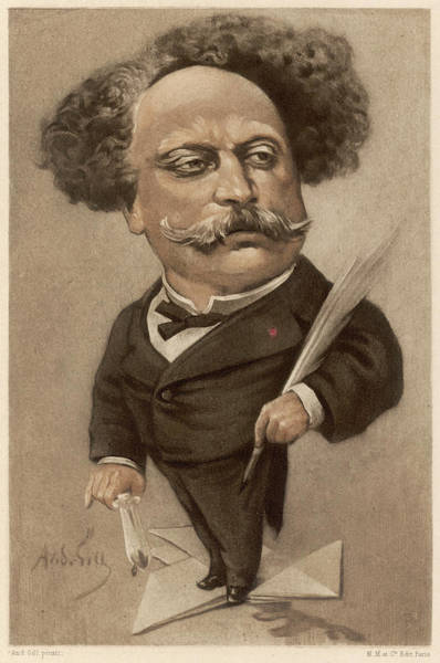 Gill Drawing - Alexandre Dumas Fils  French Writer by Mary Evans Picture Library